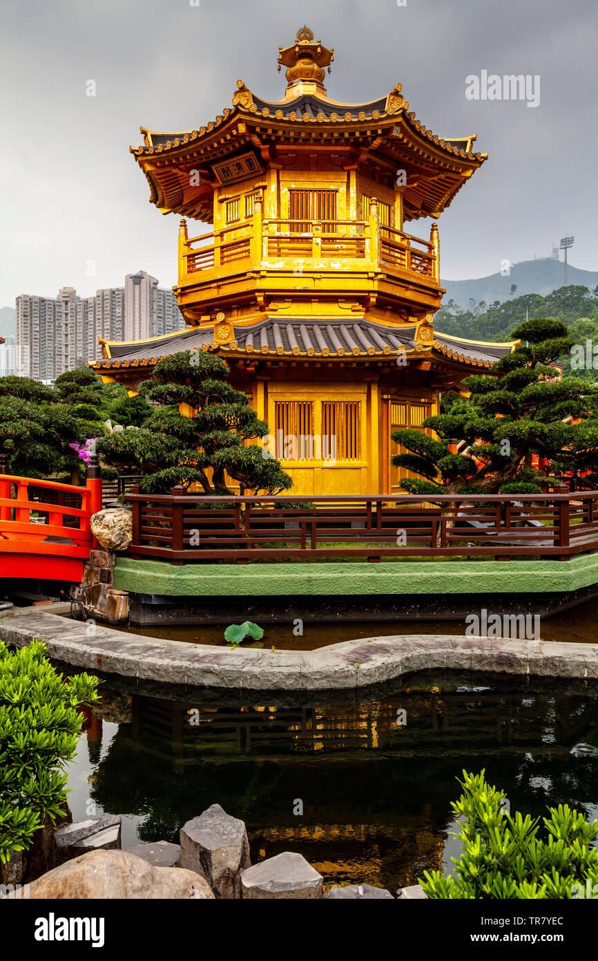 Pabellón de la perfección absoluta, Jardín Nan Lian, Hong Kong, China Imagen De Stock