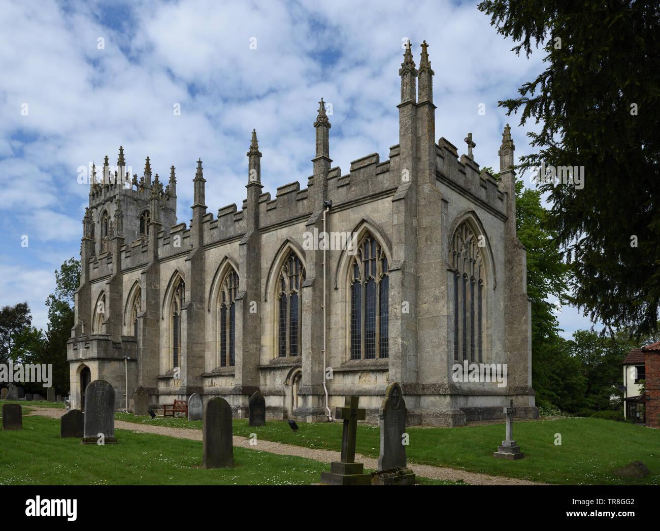La Iglesia de San Agustín, Skirlaugh, East Yorkshire, Inglaterra Foto de stock