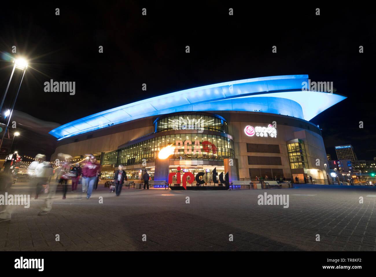 Portland, mineral / USA - Marzo 2019: Moda Center - el principal estadio en Portland, Oregón, Estados Unidos. Imagen De Stock