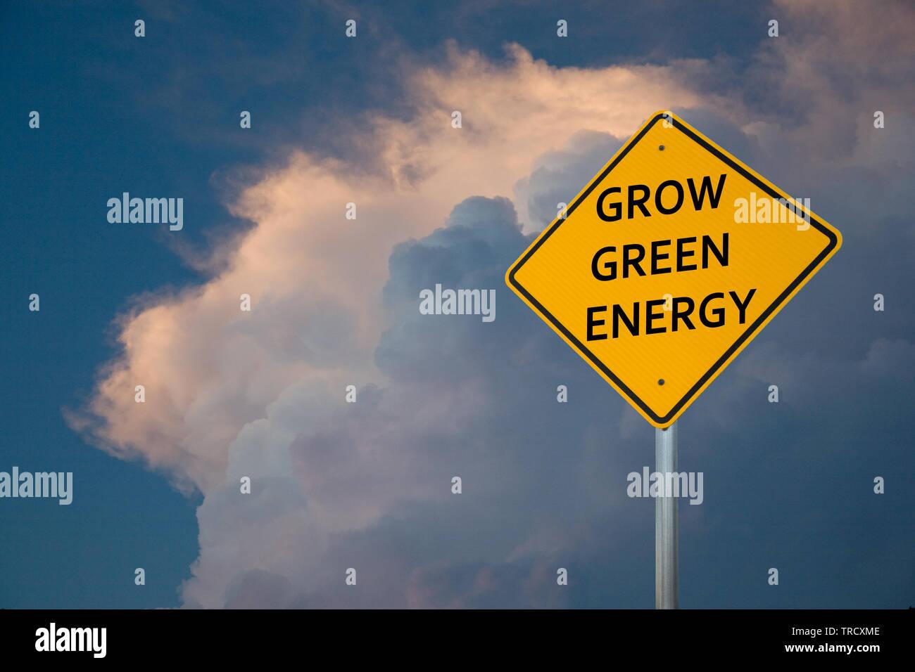 Crecer la energía verde Foto de stock