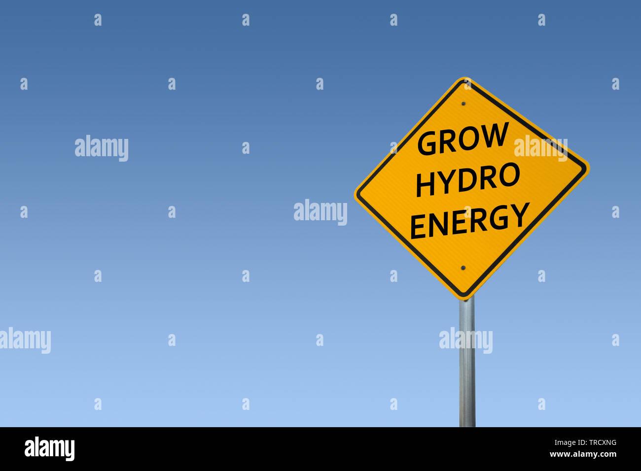 Crecer la energía hidroeléctrica Foto de stock