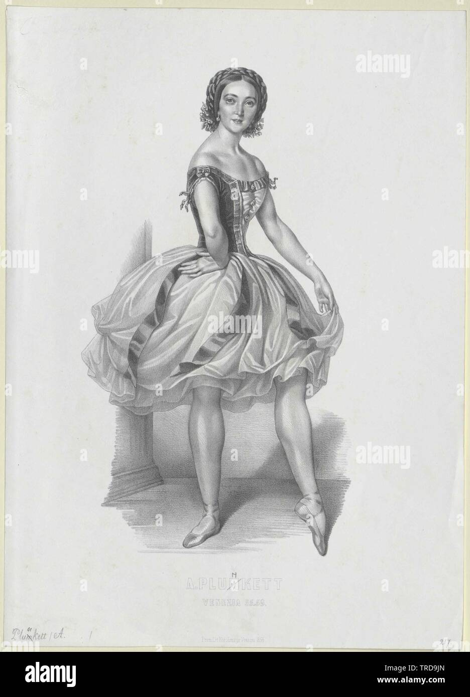 Marie Plunkett, Adeline, vivió circa 1844, Additional-Rights-Clearance-Info-Not-Available Foto de stock