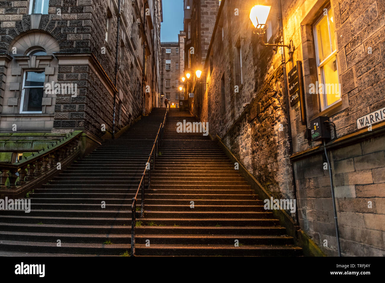 Warriston Cerrar , Casco Antiguo de Edimburgo. Imagen De Stock