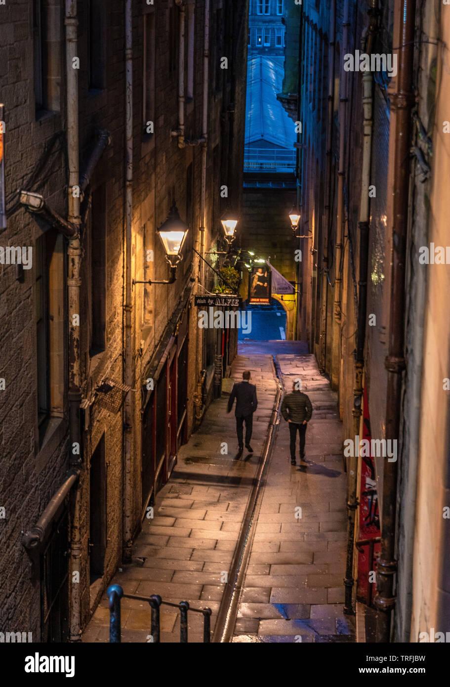 Fleshmarket Close, casco antiguo de Edimburgo Imagen De Stock
