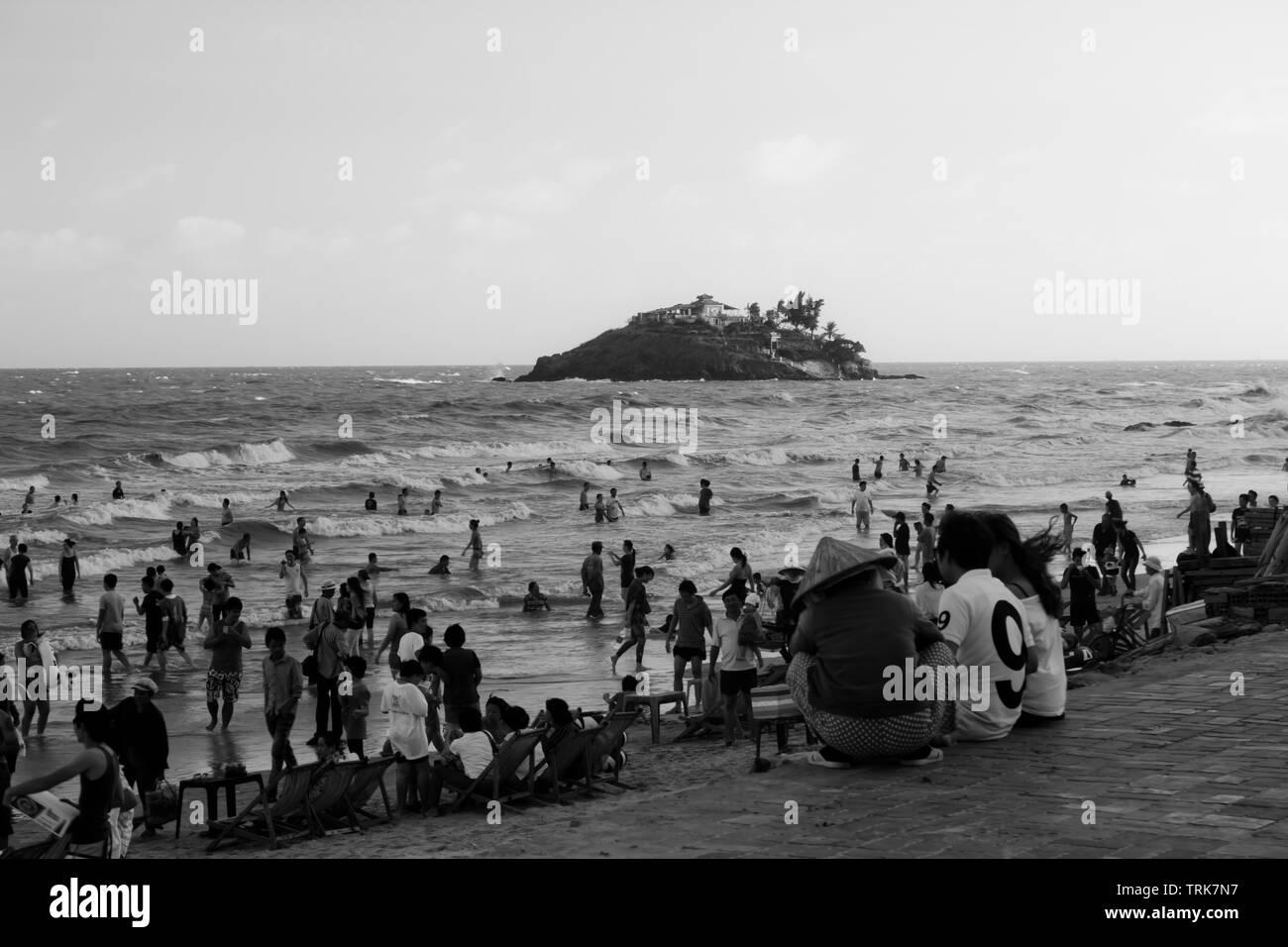 Vung Tau playa un día de verano Foto de stock