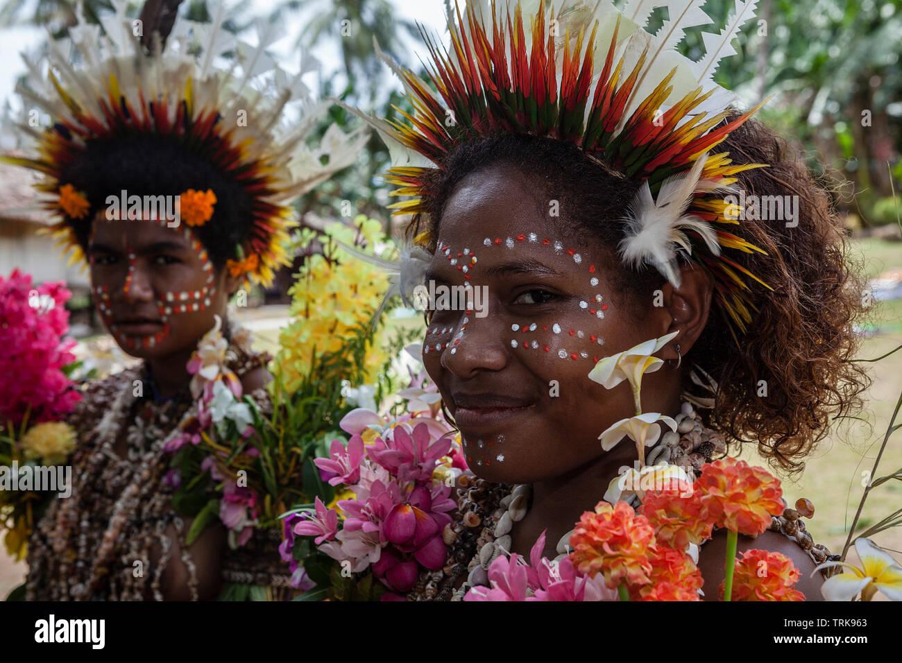 Niña de Kofure, Tufi, Oro, provincia de Papúa Nueva Guinea Imagen De Stock
