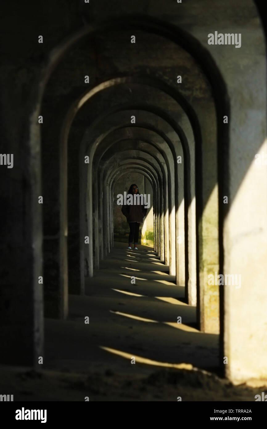 Visión de túnel imagen retrato, ideal si desea hypnotise personas. Imagen De Stock
