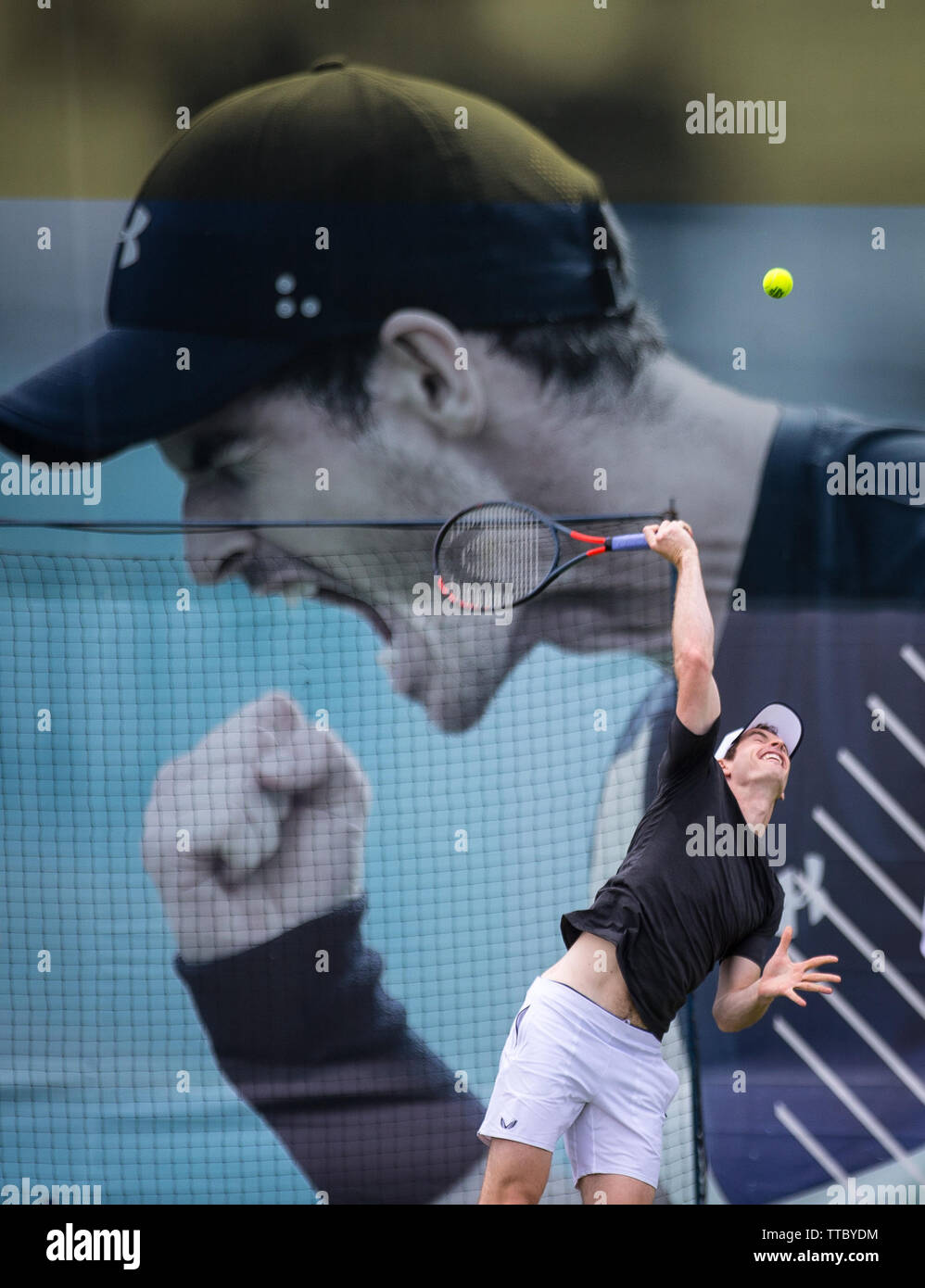 Londres, Reino Unido. 16 de junio de 2019. ANDY MURRAY de GBR durante las rondas de clasificación y la práctica del tenis en la Fever-Tree Campeonatos en el Queen's Club, Londres, Inglaterra, el 16 de junio de 2019. Foto por Andy Rowland. Crédito: Primer Media Images/Alamy Live News Imagen De Stock