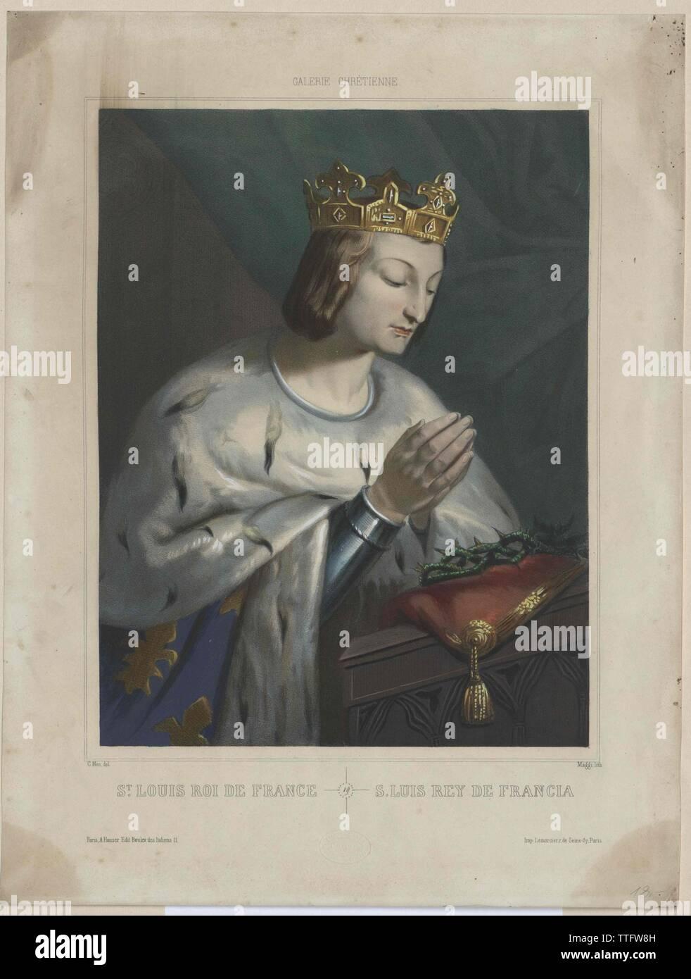 Luis IX, Rey de Francia, santo, Additional-Rights-Clearance-Info-Not-Available Foto de stock