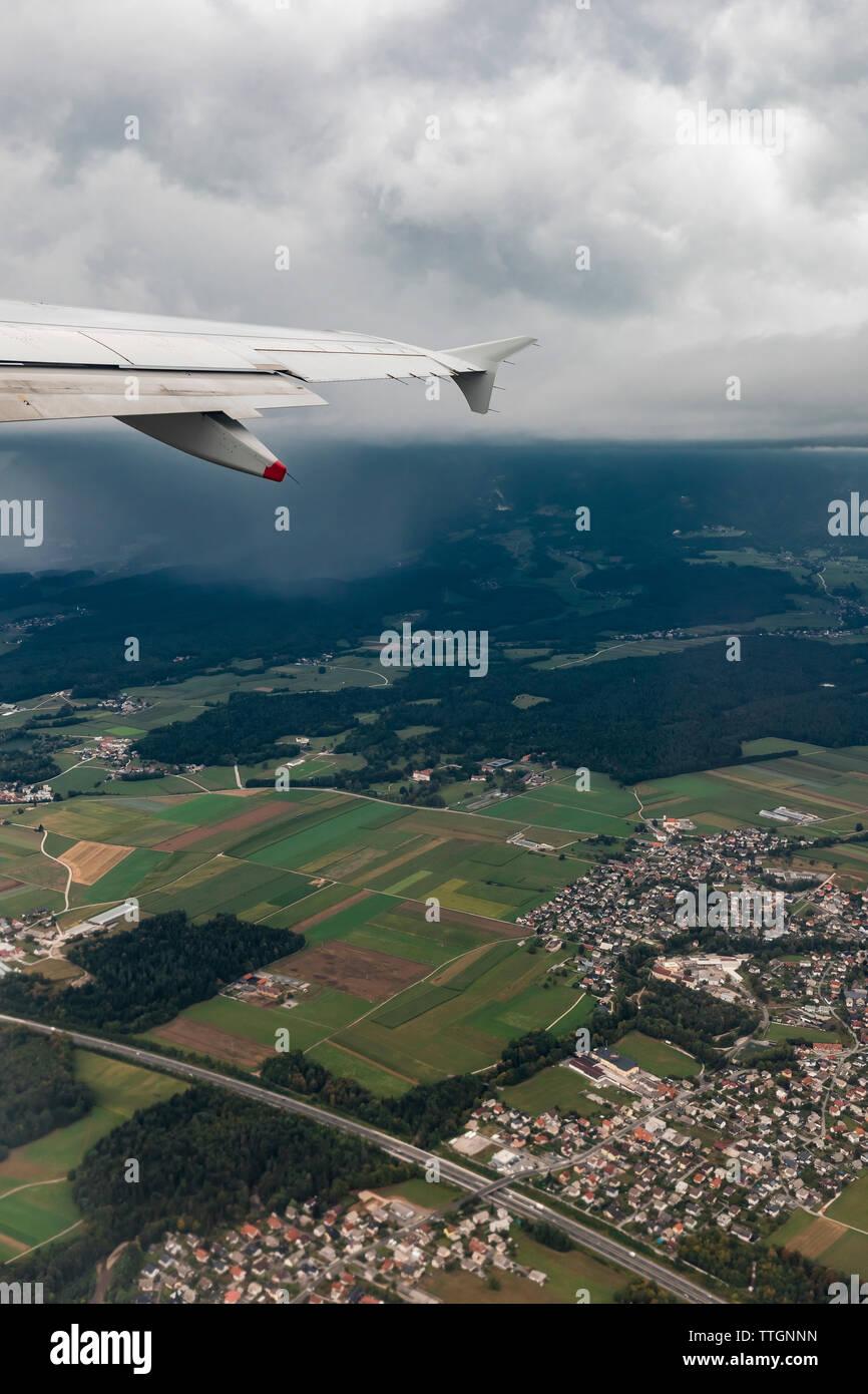 Impresionante vista desde un avión Imagen De Stock