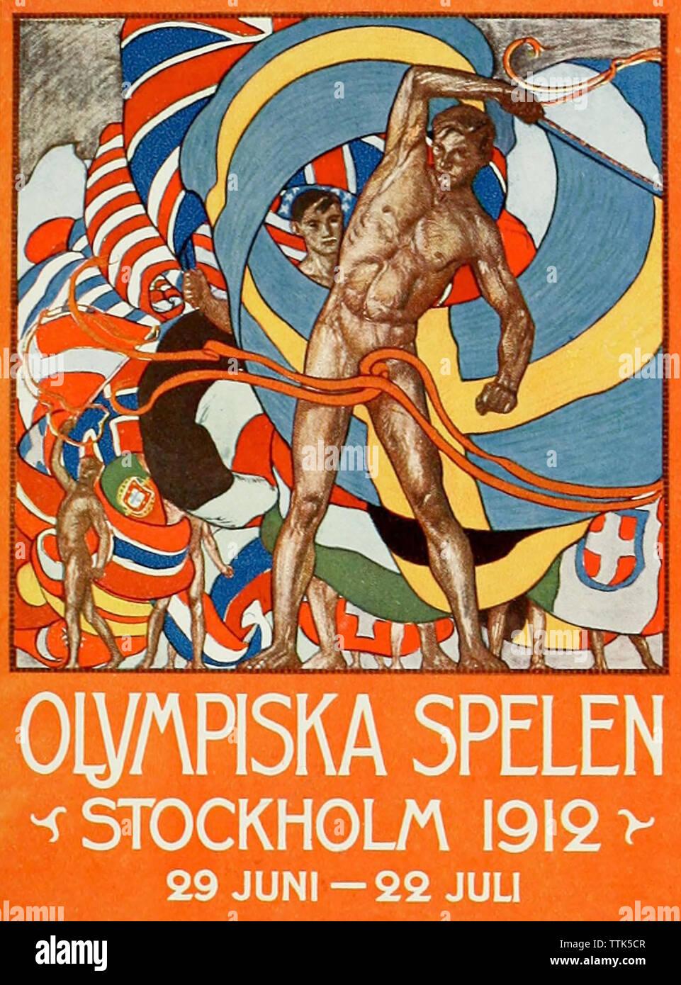 Juegos Olímpicos de verano de 1912 se celebró en Estocolmo Foto de stock