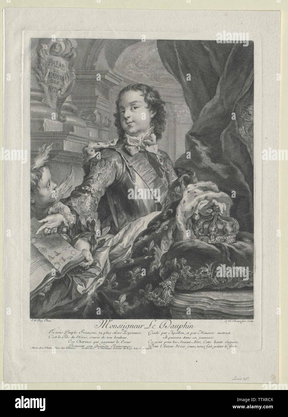 Luis XV, rey de Francia, Additional-Rights-Clearance-Info-Not-Available Foto de stock
