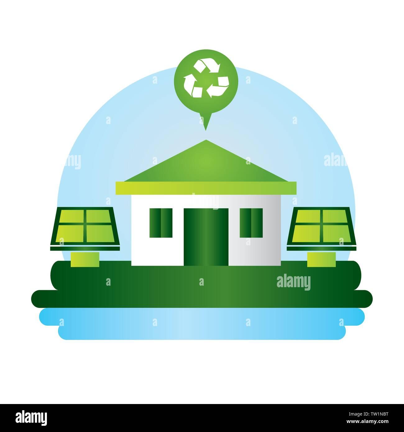 Eco friendly planeta Imagen de diseño Imagen De Stock