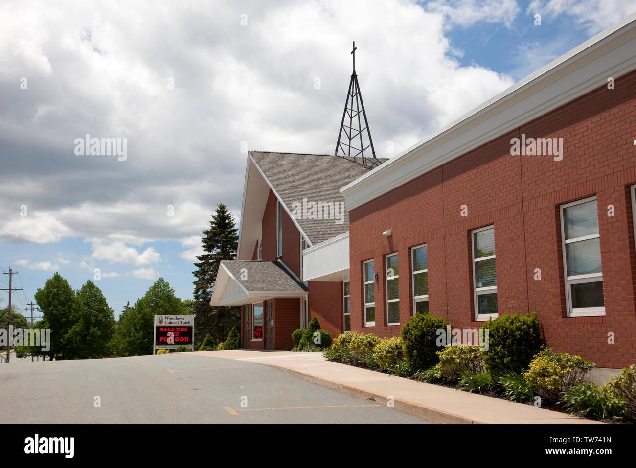 En Dartmouth, Nova Scotia, Canadá del 15 de junio, 2019: Woodlawn Iglesia Unida en Dartmouth en Woodlawn Road Imagen De Stock