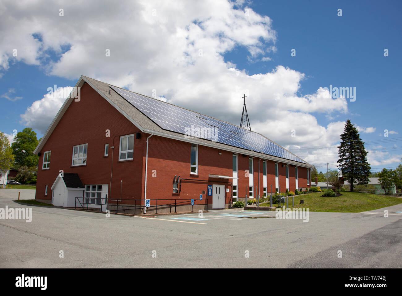En Dartmouth, Nova Scotia, Canadá del 15 de junio, 2019: Woodlawn Iglesia Unida en Dartmouth en un día de primavera Imagen De Stock
