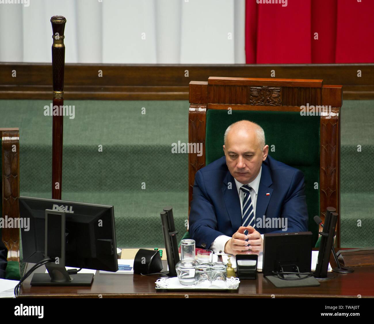 Joachim Brudzinski - político polaco, ex ministro del interior y la administración, miembro del Parlamento Europeo Imagen De Stock