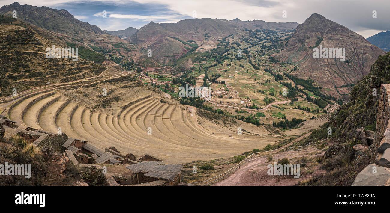 Pisac Andes Peru Inca Terrace Imágenes De Stock Pisac