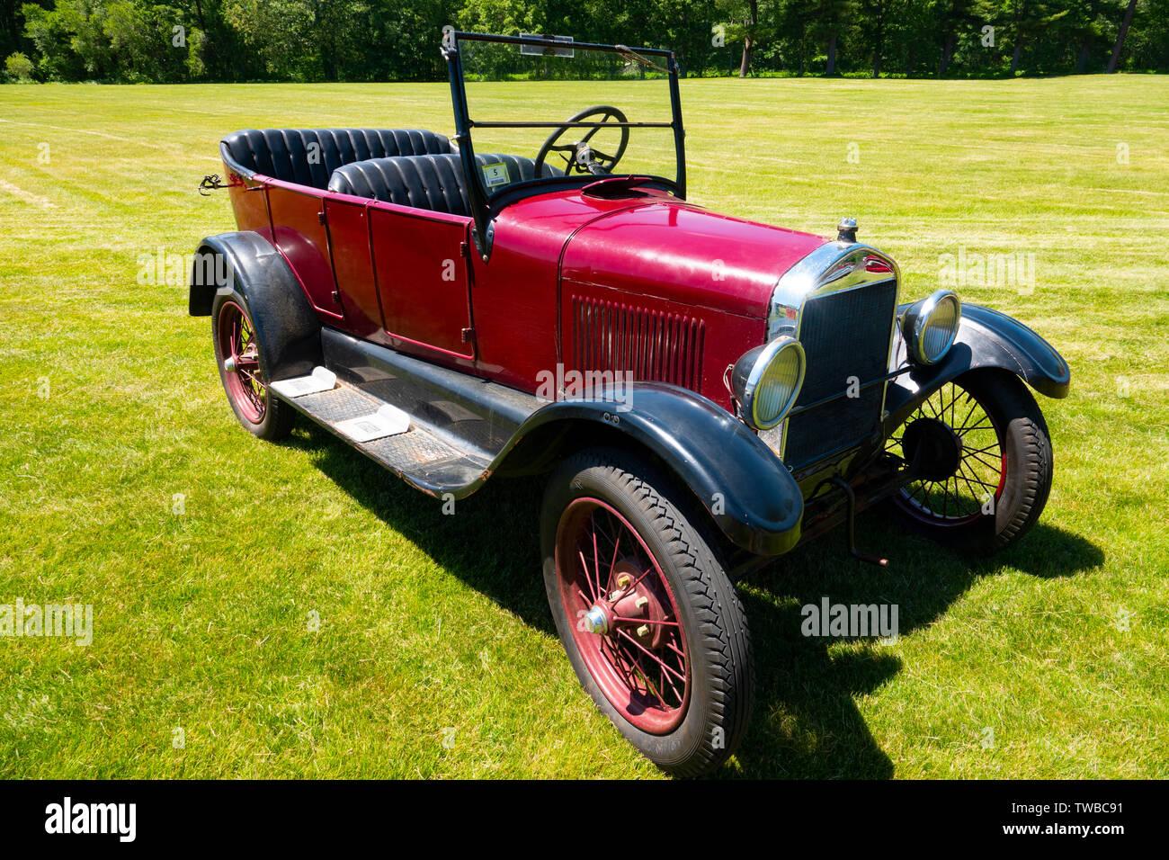 USA Alquiler de automóviles Ford Modelo T circa 1925 rojo auto Imagen De Stock