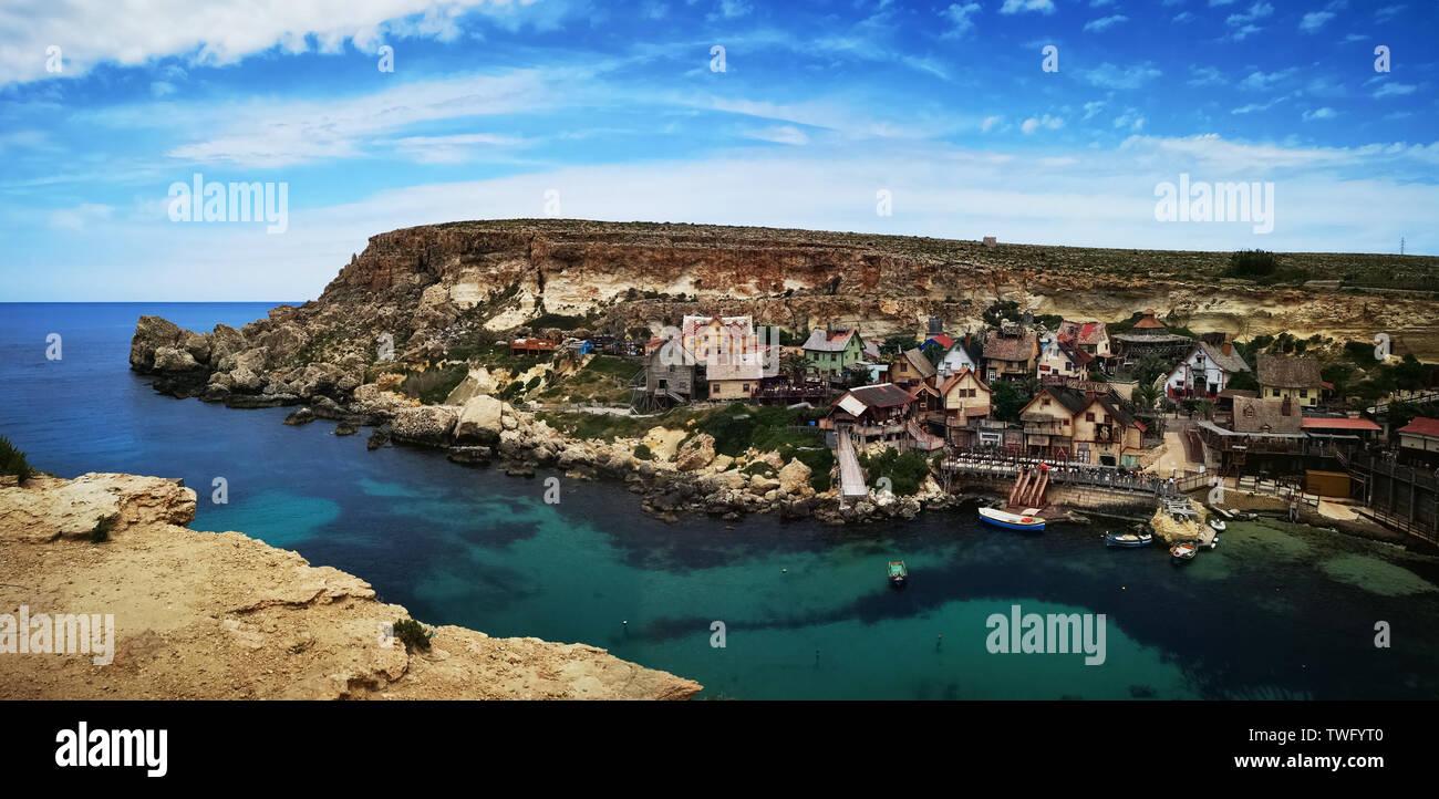 Pueblo costero, Malta Imagen De Stock