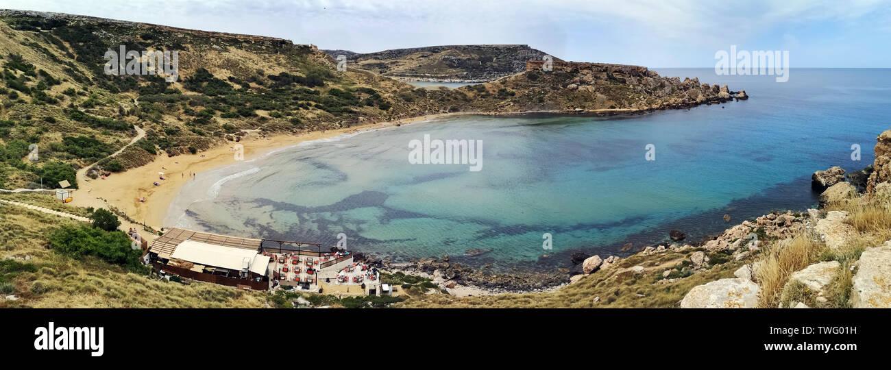Paisaje de playa, Malta Imagen De Stock
