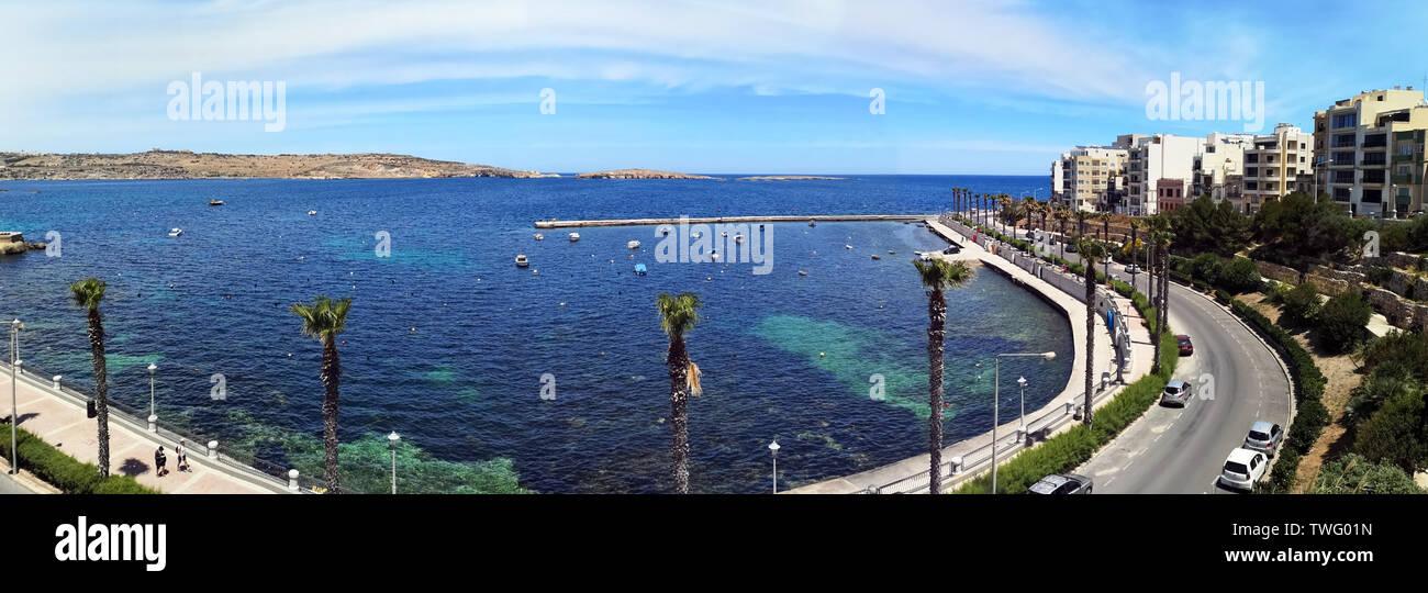 Ocean promenade, Malta Imagen De Stock