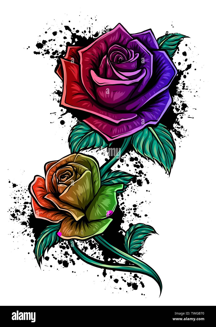 Hermoso Ramo De Rosas Rojas Y Hojas Arreglos Florales
