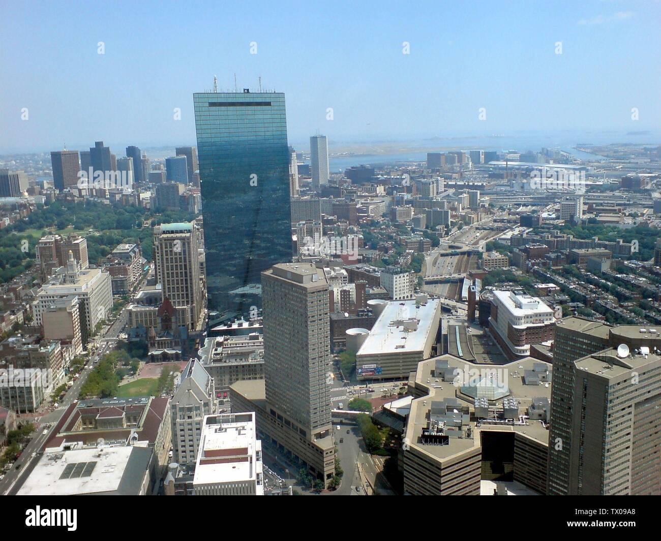 'Deutsch: Luftblick über Boston, von der Aussichtsplattform des Prudential Tower; 28 de julio de 2007; el propio trabajo (texto original: selbst erstellt); Benutzer:Max312; ' Imagen De Stock