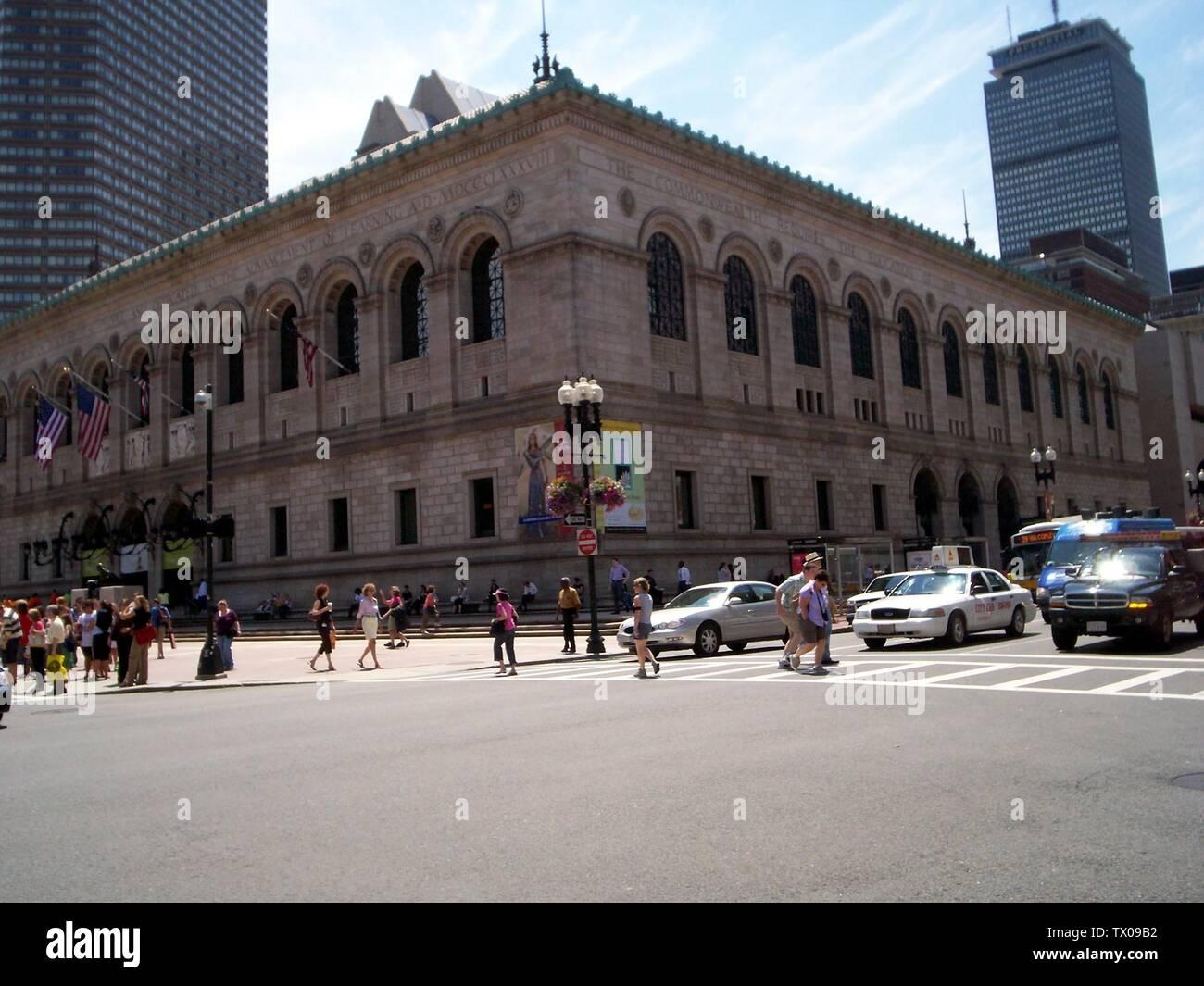 """""""Inglés: Boston Public Library/Copley Square; 29 de julio de 2006 (fecha de carga original); el propio trabajo por el uploader original; Usuario:Boston Starbucks; rebelde ' Imagen De Stock"""