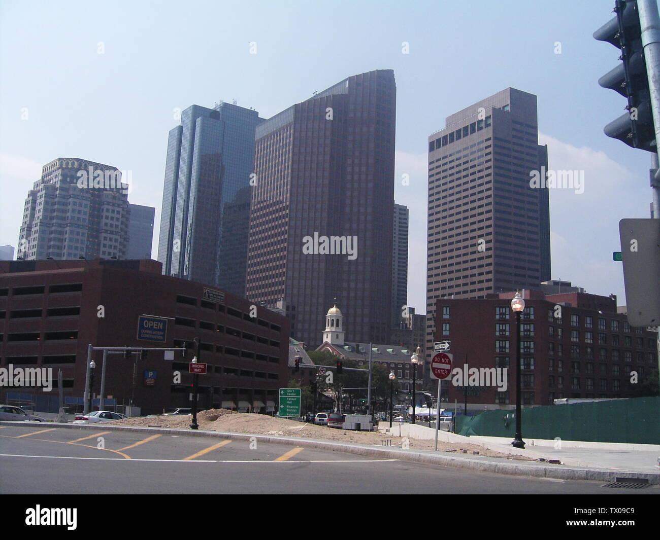 'Deutsch: Skyline von Boston, Massachusetts; agosto de 2005; Privatbild selbst aufgenommen; CX827GX 20:11, 8. Ene 2006 (CET); ' Imagen De Stock