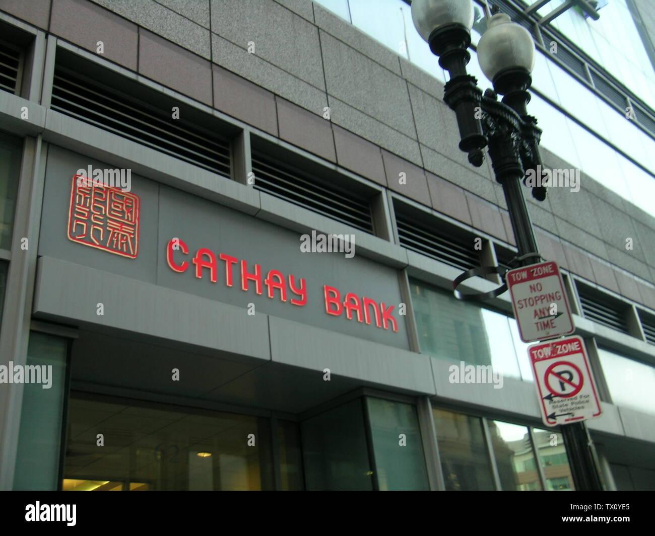 """Inglés: Cathay Bank en Chinatown, Boston, Massachusetts, Estados Unidos. En marzo de 2008 Foto por John Stephen Dwyer 中文(繁體): 波士顿唐人街國泰銀行 中文(简体): 波士顿唐人街国泰银行; 4 de marzo de 2008 (fecha de carga original); trasladado desde en.wikipedia a Commons.; HouseOfScandal en Wikipedia en inglés; ' Imagen De Stock"