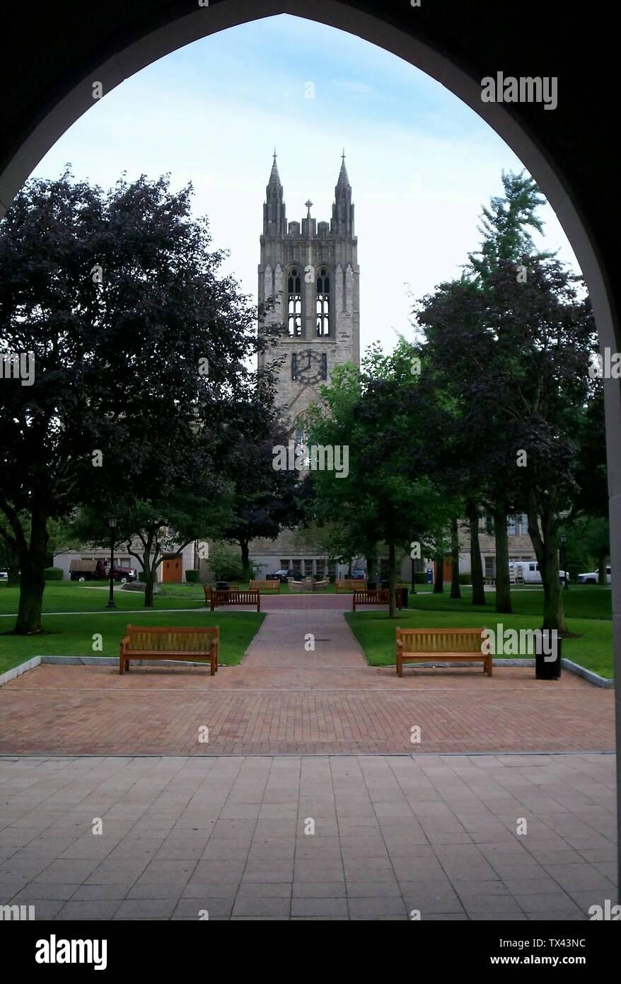 """""""Inglés: Gasonn Hall de Boston College.; 27 de julio de 2006 (fecha de carga original); el propio trabajo por el uploader original; Usuario:Boston Starbucks; rebelde ' Imagen De Stock"""