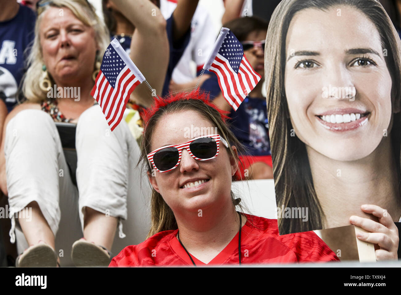 24 de junio de 2019 - Durante la Francia 2019 Copa del Mundo de Fútbol Femenino de octavos de final del partido de fútbol entre España y EE.UU., el 24 de junio de 2019, en el estadio Auguste-Delaune en Reims, en el norte de Francia. (Crédito de la Imagen: © Elyxandro CegarraZUMA Wire) Imagen De Stock
