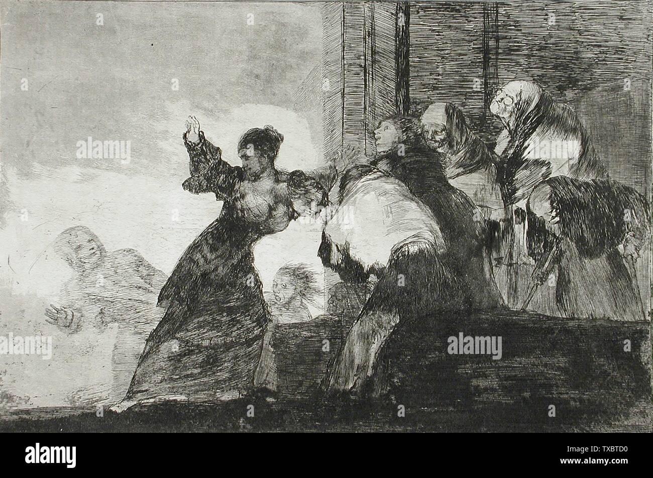 """""""Pobres locura; en inglés: España, circa 1815/1816-1823 título alternativo: pobre Series dispares: Los Disparates, placa 11 copias; grabados Aguafuerte, Aguatinta y Punta Seca del fondo del Condado de Los Angeles (65.2) grabados y dibujos; circa 1815 fecha QS:P571,+1815-00-00T00:00:00Z/9,P1480,Q5727902/1816-1823; ' Imagen De Stock"""