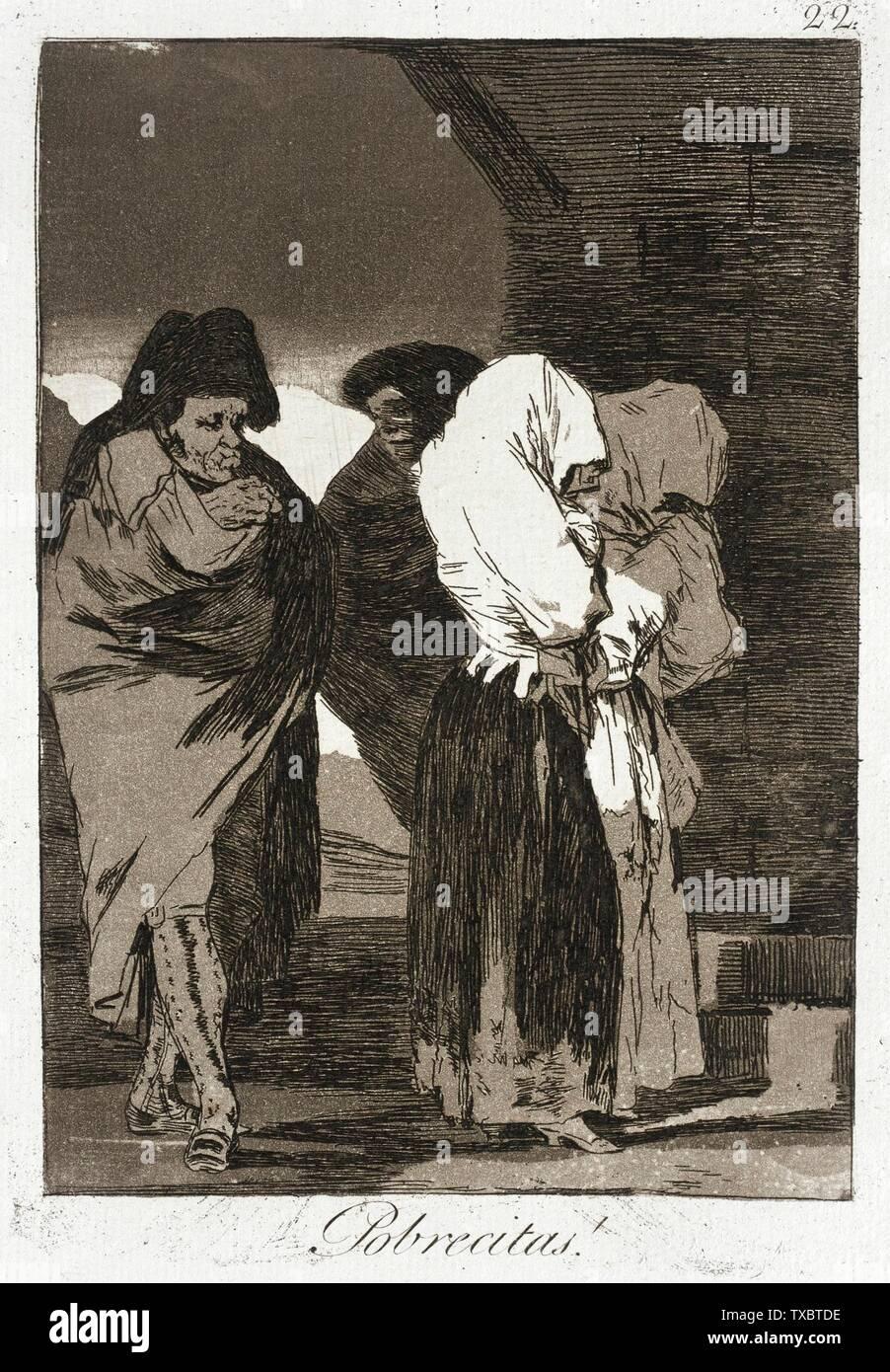 """""""Poor Little cosas!; en inglés: España, 1799 título alternativo: ¡Pobrecitas! Cartera: Los Caprichos, placa 22 Imprime; grabados aguafuerte y aguatinta bruñida Paul Mabury Rodman Fondo Fiduciario (63.11.22) grabados y dibujos; QS 1799Fecha:P571,+1799-00-00T00:00:00Z/9; ' Imagen De Stock"""