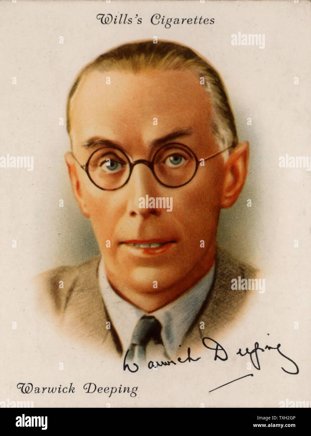 """(George) Warwick Deeping (1877-1950), novelista británico nacido en Southend-en-mar, Essex. Un autor superventas en Europa y América en los años 1920 y 1930, con novelas como 'orrell e hijo"""" (1925). A partir de una serie de tarjetas de """"autores británicos famosos' (Londres, 1937). Foto de stock"""