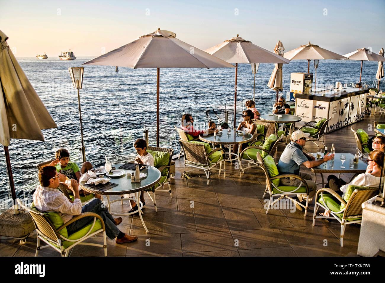 Sheraton Hotel Terraza Con Vistas Al Sur Del Océano Pacífico