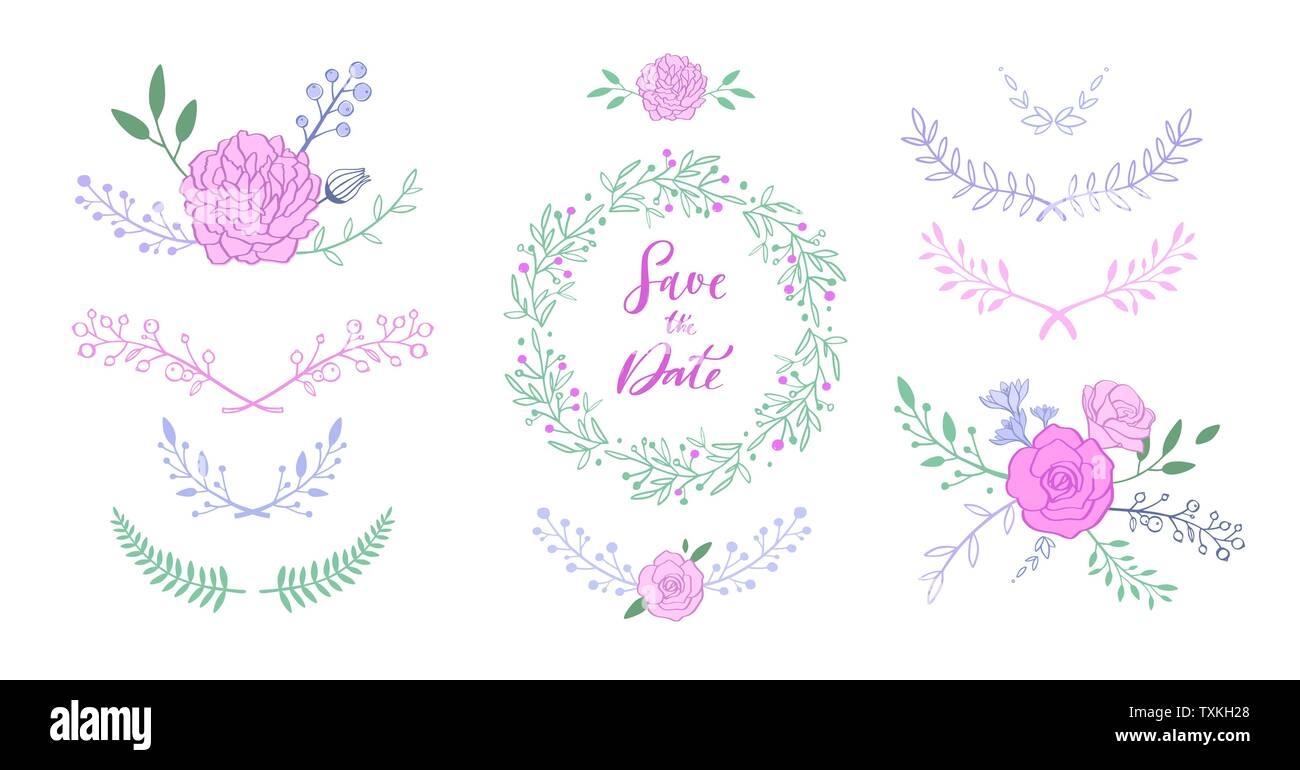 Vector Floral Con Bouquet Con Rosa Peonía Anémonas Sakura