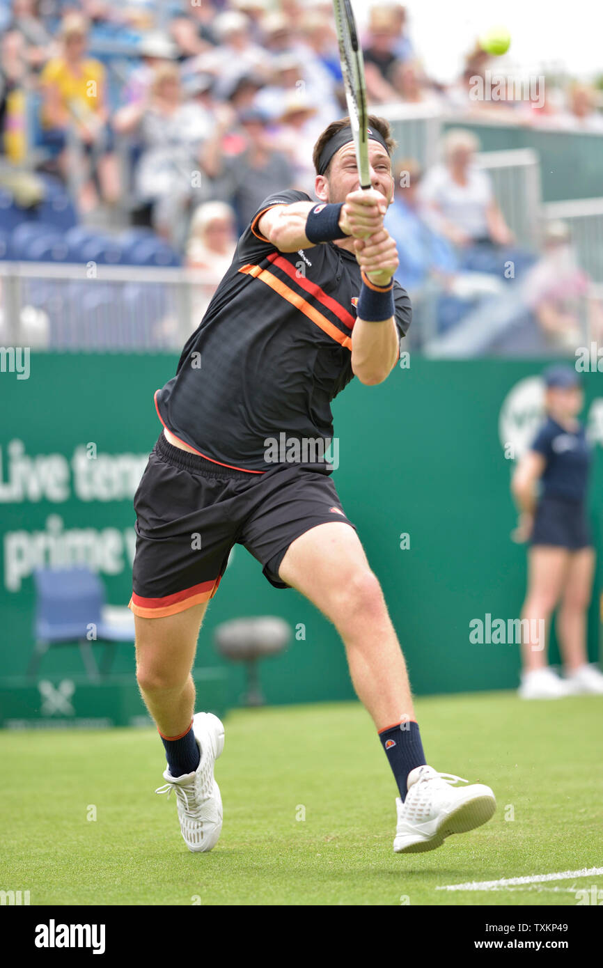 Cameron Norrie (GBR) en Eastbourne, Reino Unido. El 25 de junio, 2019. Nature Valley International tennis en Devonshire Park. Foto de stock