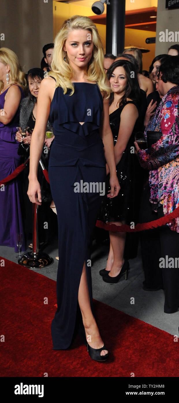 La actriz Amber Heardattends la 64ª anual de Directors Guild of America Awards en Los Angeles el 28 de enero de 2012. UPI/Jim Ruymen Imagen De Stock