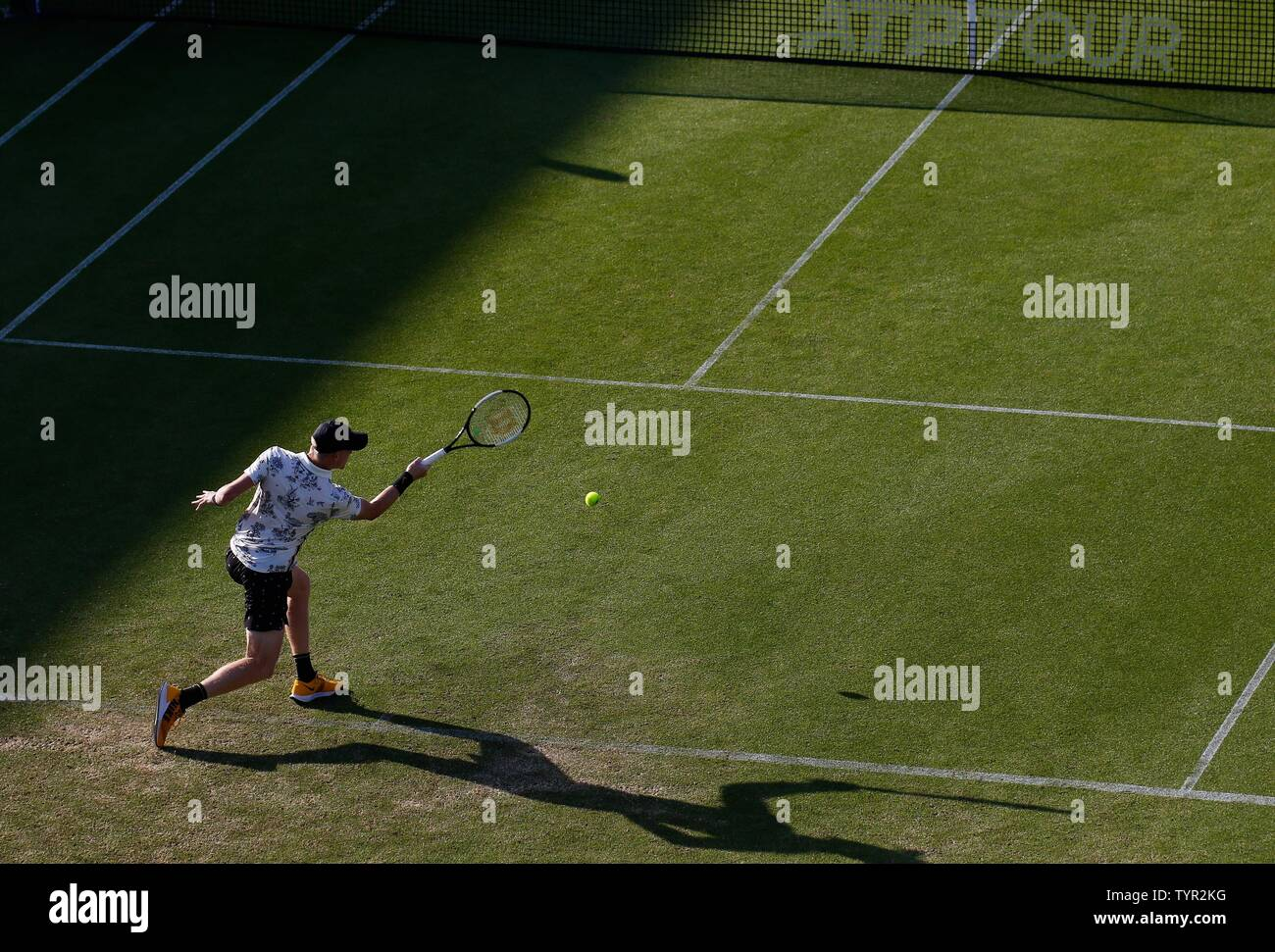 Devonshire Park, Eastbourne, Reino Unido. El 26 de junio, 2019. Nature Valley torneo de tenis internacional; Kyle Edmund (GBR) desempeña un forehand shot en su partido contra Cameron Norrie (GBR) Crédito: Además de los deportes de acción/Alamy Live News Foto de stock