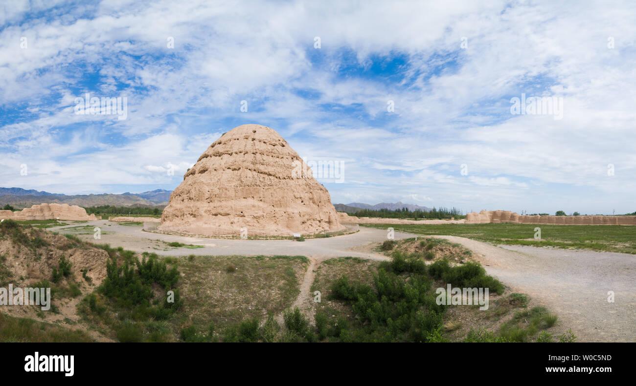 Yinchuan Ningxia Xixia Wang mausoleo Foto de stock