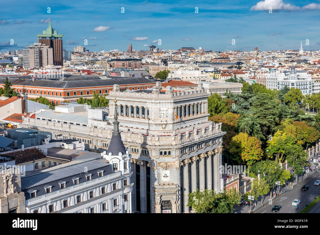 España Madrid Vista Desde La Terraza De La Azotea Del