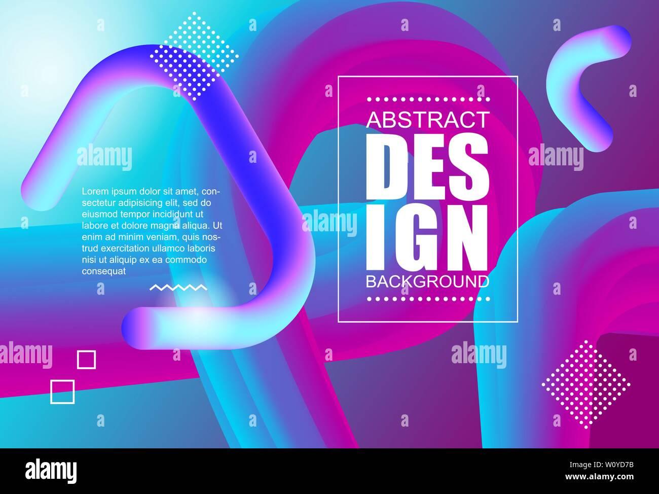 Resumen de diseño moderno forma flujo 3d. Onda líquida fondos de póster, presentación y Banner web Imagen De Stock