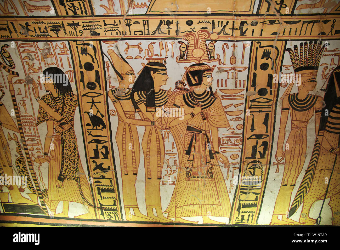 Luxor Egipto 28 Feb 2017 Los Frescos De La Antigua