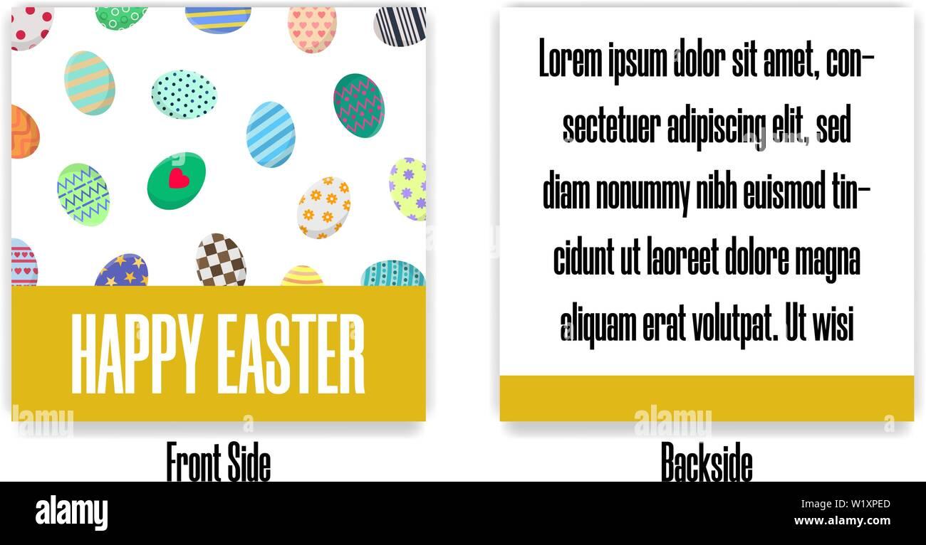 Postales De Pascua Saludo O Invitación Con Diferentes Tipos