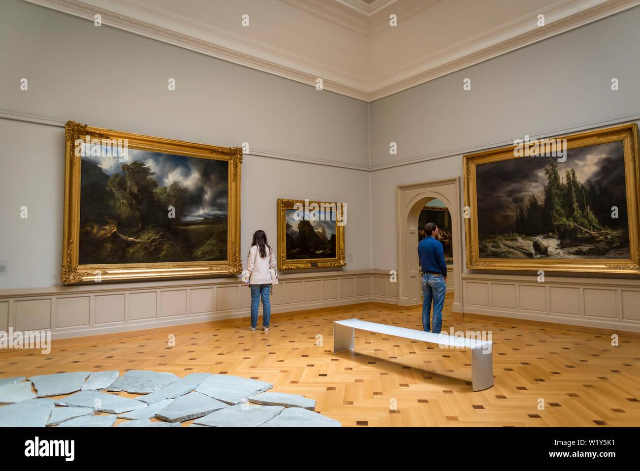 Galería con artista suizo François Diday pinturas, del siglo XIX, el museo de arte e historia, el museo más grande de la ciudad, Ginebra, Suiza. Foto de stock