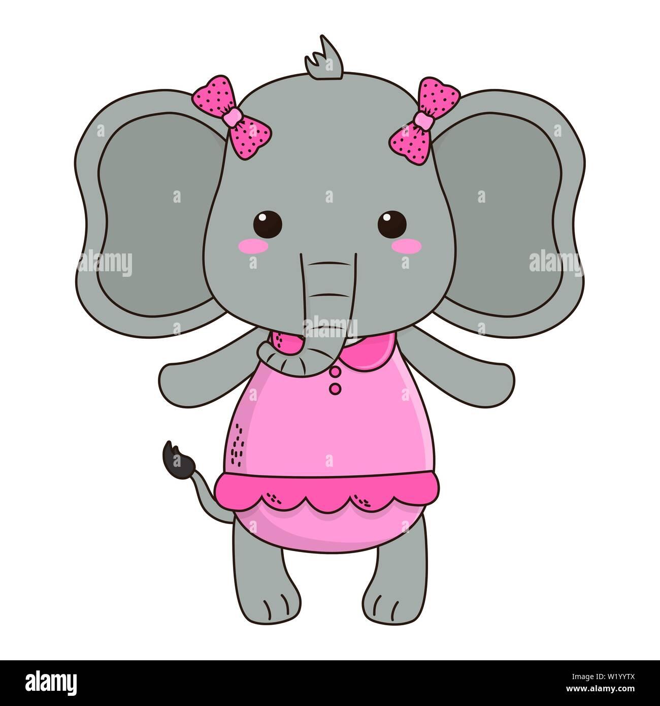 Bebé Elefante De Dibujos Animados Diseño De Tarjeta De