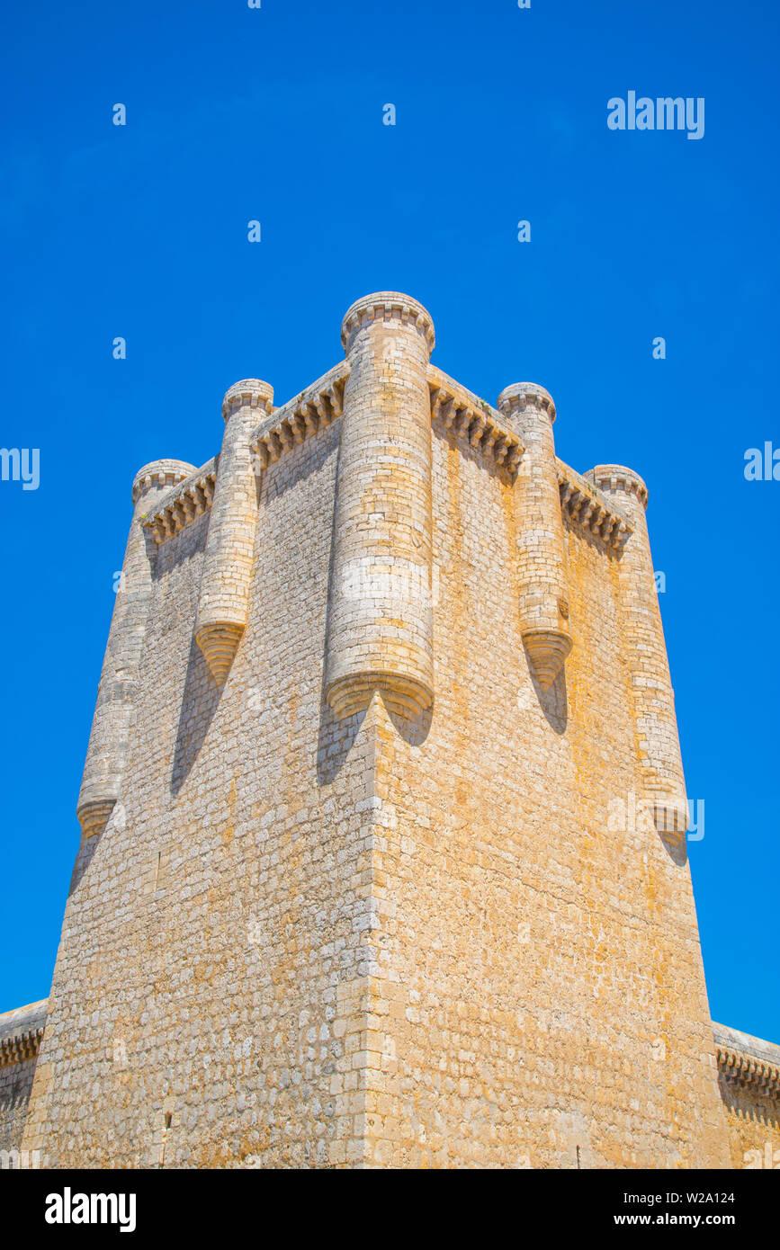 Mantenga del castillo. Torrelobaton, provincia de Valladolid, Castilla y León, España. Foto de stock