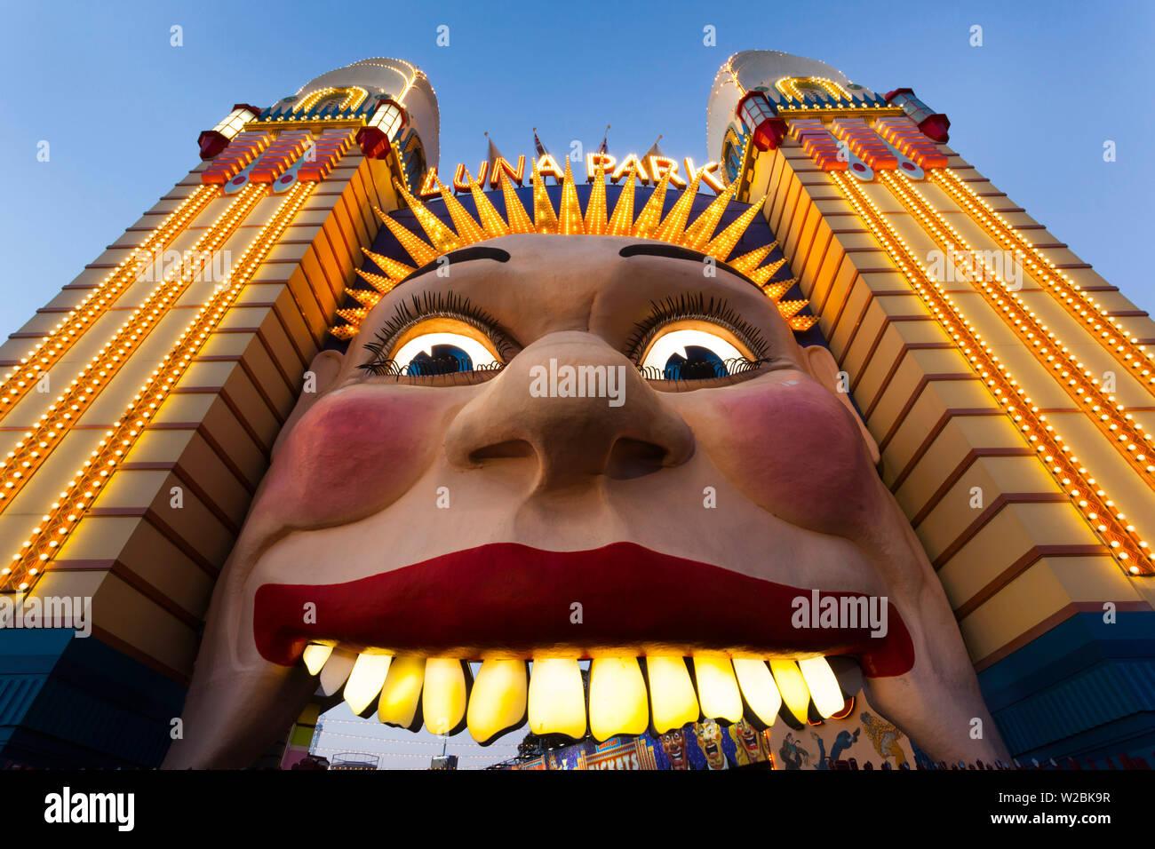 Australia, Nueva Gales del Sur (NSW, North Sydney, Milson's Point, Luna Park entrada Imagen De Stock