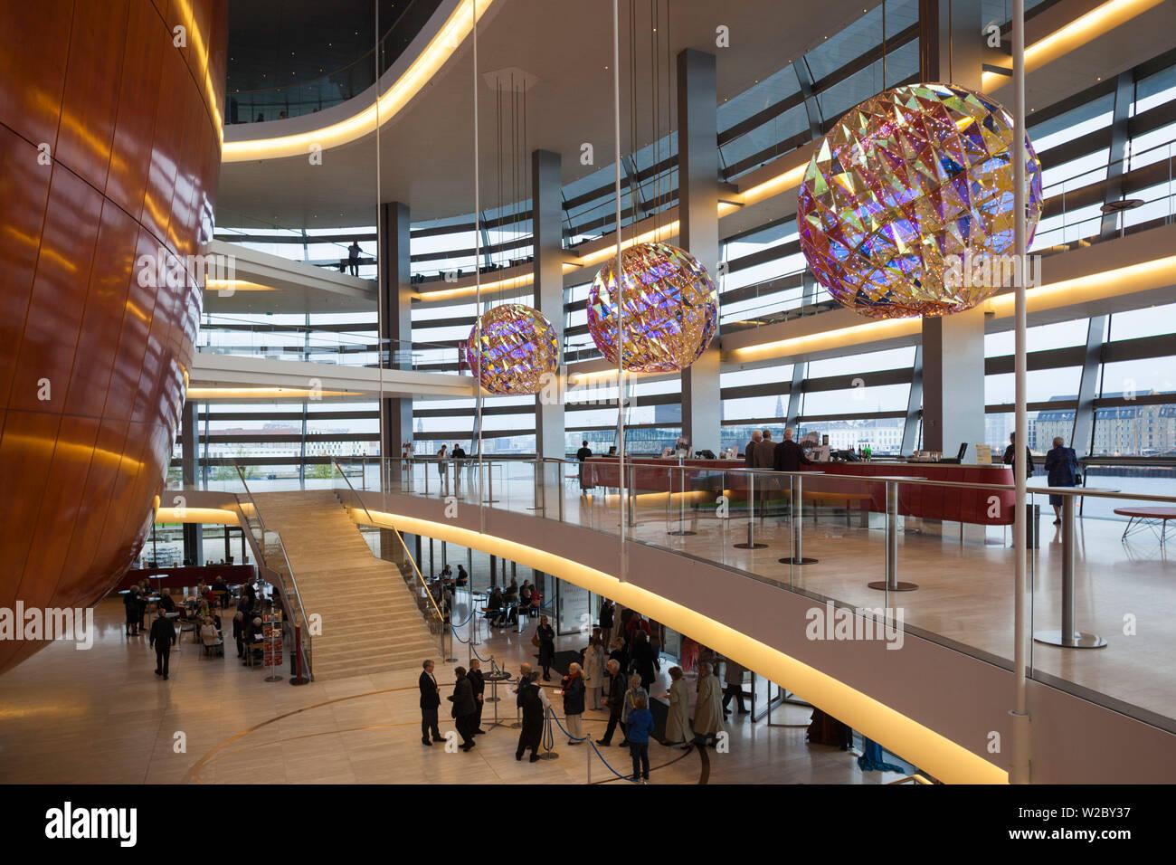 Dinamarca, Zelanda, Copenhague, Ópera, interior Foto de stock